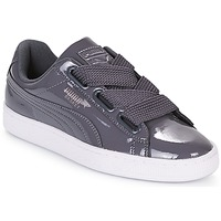 Cipők Női Rövid szárú edzőcipők Puma WN BASKET HEART PATENT.IRO Vas