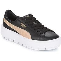Cipők Női Rövid szárú edzőcipők Puma WN PLATFORM TRACE BSQT.BLK Fekete