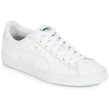 Cipők Rövid szárú edzőcipők Puma BASKET CLASSIC LFS.WHT Fehér