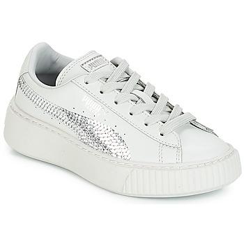 Cipők Lány Rövid szárú edzőcipők Puma G PS B PLATFORM BLING.GRAY Szürke