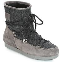 Cipők Női Hótaposók Moon Boot FAR SIDE LOW SUEDE GLITTER Fekete  / Szürke