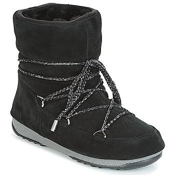Cipők Női Hótaposók Moon Boot LOW SUEDE WP Fekete