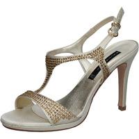 Cipők Női Szandálok / Saruk Bacta De Toi sandali platino raso strass BY95 Altri