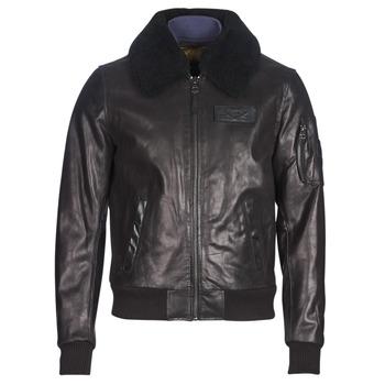 Ruhák Férfi Bőrkabátok / műbőr kabátok Redskins COMMANDER STRIKING Fekete