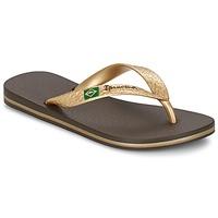 Cipők Női Lábujjközös papucsok Ipanema CLASSICA BRASIL II Barna / Arany