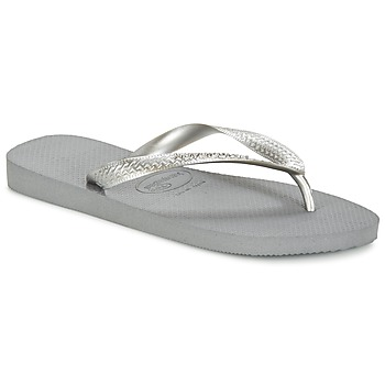 Cipők Női Lábujjközös papucsok Havaianas TOP METALLIC Szürke / Acél
