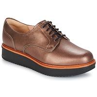 Cipők Női Oxford cipők Clarks TEADALE Sötét / Cserszínű / Lea