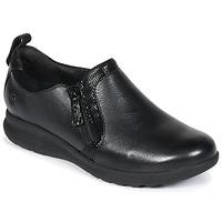 Cipők Női Oxford cipők Clarks Un Adorn Zip Fekete / Combi