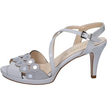 Cipők Női Szandálok / Saruk Olga Rubini sandali grigio vernice camoscio BY358 Grigio
