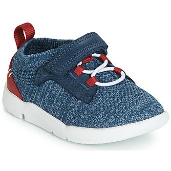 Cipők Fiú Rövid szárú edzőcipők Clarks Tri Hero Kék
