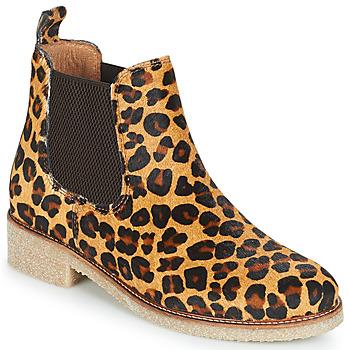 Cipők Női Csizmák Bensimon BOOTS CREPE Leopárd
