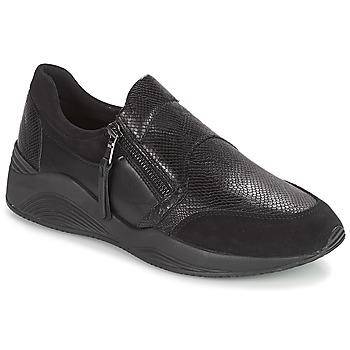 Cipők Női Rövid szárú edzőcipők Geox D OMAYA Fekete