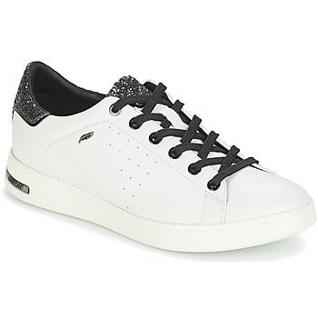 Cipők Női Rövid szárú edzőcipők Geox JAYSEN Fehér / Ezüst