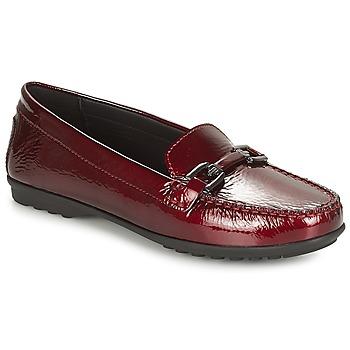 Cipők Női Mokkaszínek Geox D ELIDIA Bordó