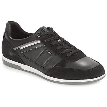 Cipők Férfi Rövid szárú edzőcipők Geox U RENAN Fekete
