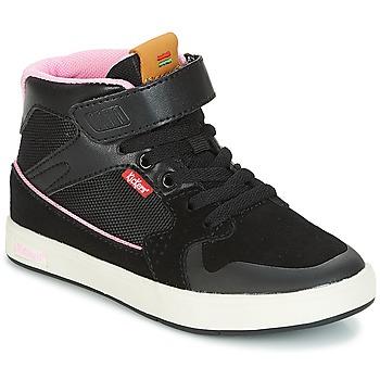 Cipők Lány Magas szárú edzőcipők Kickers GREADY MID CDT Fekete  / Rózsaszín
