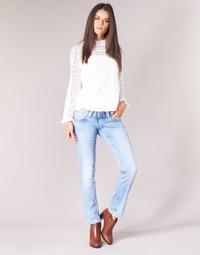 Ruhák Női Egyenes szárú farmerek Pepe jeans VENUS Kék / Tiszta