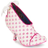 Cipők Női Bokacsizmák Irregular Choice Love is all around Fehér / Rózsaszín