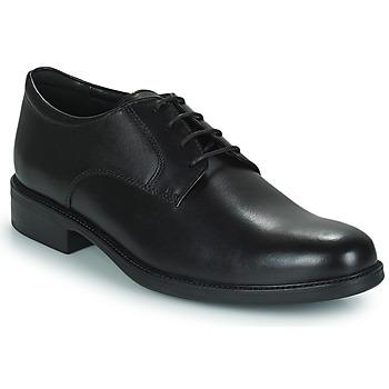 Cipők Férfi Oxford cipők Geox CARNABY D Fekete