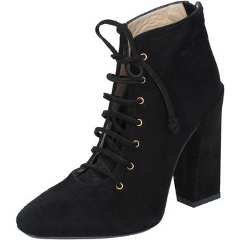 Cipők Női Bokacsizmák Gianni Marra tronchetti nero camoscio BY757 Nero