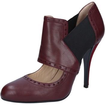 Cipők Női Félcipők Gianni Marra tronchetti bordeaux pelle tessuto BY795 Rosso
