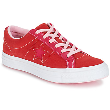 Cipők Női Rövid szárú edzőcipők Converse ONE STAR OX Piros / Rózsaszín