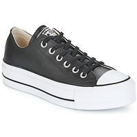 Cipők Női Rövid szárú edzőcipők Converse CHUCK TAYLOR ALL STAR LIFT CLEAN OX Fekete  / Fehér