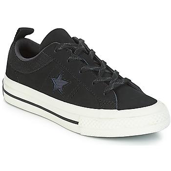 Cipők Gyerek Rövid szárú edzőcipők Converse ONE STAR NUBUCK OX Fekete  / Fehér