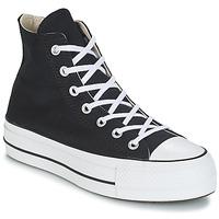 Cipők Női Magas szárú edzőcipők Converse CHUCK TAYLOR ALL STAR LIFT CANVAS HI Fekete