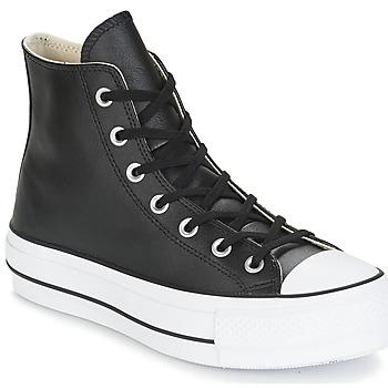 Cipők Női Magas szárú edzőcipők Converse CHUCK TAYLOR ALL STAR LIFT CLEAN LEATHER HI Fekete