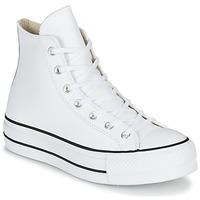 Cipők Női Magas szárú edzőcipők Converse CHUCK TAYLOR ALL STAR LIFT CLEAN LEATHER HI Fehér