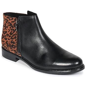 Cipők Női Csizmák Betty London JINANE Fekete  / Barna