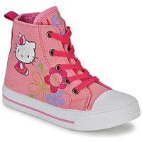 Shoes Lány Magas szárú edzőcipők Hello Kitty LONS Rózsaszín