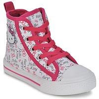 Cipők Lány Magas szárú edzőcipők Hello Kitty LYNDA Fehér