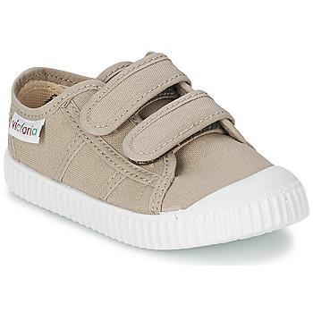 Shoes Gyerek Rövid szárú edzőcipők Victoria BLUCHER LONA DOS VELCROS Bézs