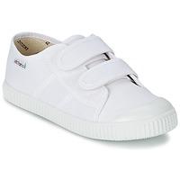 Cipők Gyerek Rövid szárú edzőcipők Victoria BLUCHER LONA DOS VELCROS Fehér
