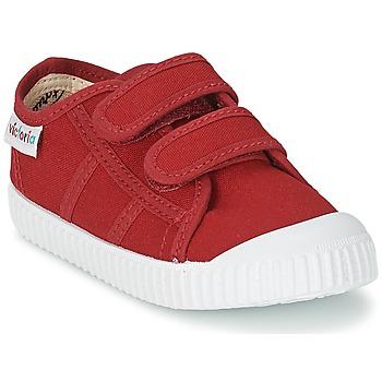 Cipők Gyerek Rövid szárú edzőcipők Victoria BLUCHER LONA DOS VELCROS Kármin