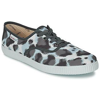 Cipők Női Rövid szárú edzőcipők Victoria INGLESA ESTAMP HUELLA TIGRE Szürke