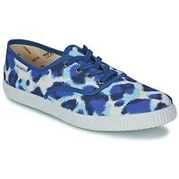 Cipők Női Rövid szárú edzőcipők Victoria INGLESA ESTAMP HUELLA TIGRE Kék