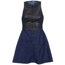 material Női Rövid ruhák G-Star Raw SUTZIL DRESS Tengerész / Fekete
