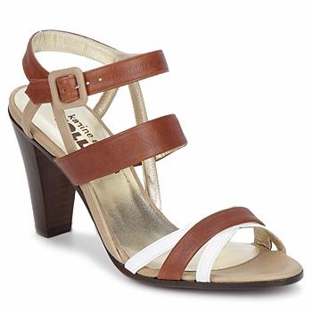 Cipők Női Szandálok / Saruk Karine Arabian JOLLY Konyak / Bézs / Fehér