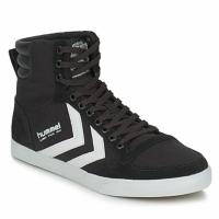Cipők Magas szárú edzőcipők Hummel TEN STAR HIGH CANVAS Fekete  / Fehér