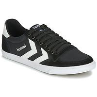 Cipők Rövid szárú edzőcipők Hummel TEN STAR LOW CANVAS Fekete  / Fehér