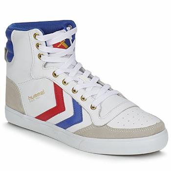 Cipők Magas szárú edzőcipők Hummel STADIL HIGH Fehér / Kék / Piros