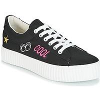 Cipők Női Rövid szárú edzőcipők Coolway COOL Fekete