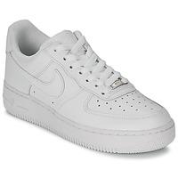Shoes Női Rövid szárú edzőcipők Nike AIR FORCE 1 07 LEATHER W Fehér