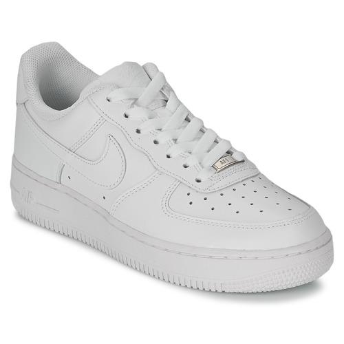 41b2068915 Nike AIR FORCE 1 07 LEATHER W Fehér - Ingyenes Kiszállítás | SPARTOO ...