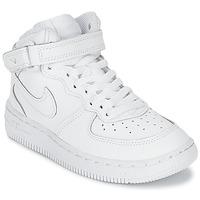 Shoes Gyerek Rövid szárú edzőcipők Nike AIR FORCE 1 MID Fehér