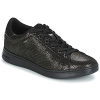 Cipők Női Rövid szárú edzőcipők Geox D JAYSEN Szürke / Fekete