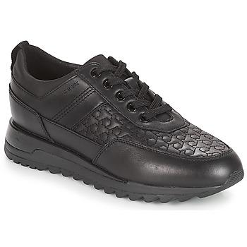 Cipők Női Rövid szárú edzőcipők Geox D TABELYA Fekete